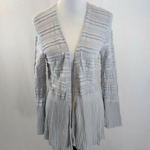 Style Co Large Cardigan Gray Open Front Bell Slv
